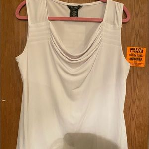 George white stretch tank top- Large